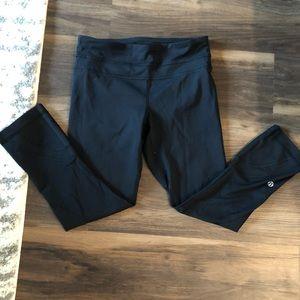 Lululemon black crop leggings Size 2